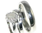 9ct white gold mans wedding ring measuring 4.5mm wide
