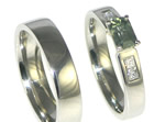 jill's palladium, sapphire and diamond engagement ring