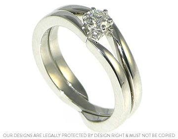 Interlocking Wedding Rings.Mary S Platinum Interlocking Engagement And Wedding Ring Set