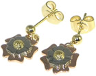 robert wanted to design megan some tudor rose inspired earrings