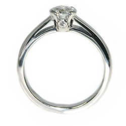 solitaire engagement ring with 0.51ct brilliant cut diamond