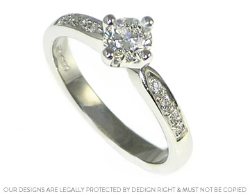 platinum engagement solitaire with a 0.51ct hsi1 diamond