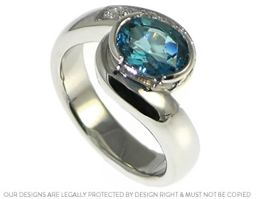 Zoe and Daniel wanted an ocean inspired engagement ring