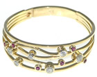 sally's sparkly yellow gold, diamond and ruby bracelet