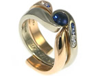 anna's open style 18ct rose gold fitted wedding ring