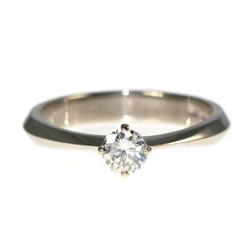 18ct white gold fairtrade and fairmined diamond solitaire ring