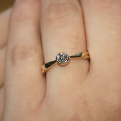 Simple Crafted Yellow A Modern Ring But Solitaire In Gold 5Rj4ALc3q