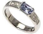 emilie's stunning scissor cut blue sapphire engagement ring