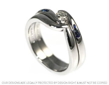 Hayleys bespoke wave shaped wedding ring