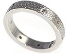 gerla's wedding ring with diamonds and mill grain