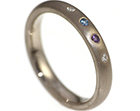 elanor's bespoke 18ct white gold eternity ring