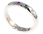 sara's beautiful eternity ring with birthstones