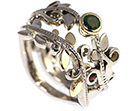 emma's palladium and yellow gold vine inspired wedding ring