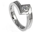 grisella's name inspired palladium and diamond engagement ring