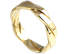 andy's fairtrade 9ct yellow gold men's celtic wedding ring
