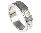 andy's oak leaf relief engraved palladium wedding ring