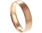 18ct rose gold satinised wedding ring
