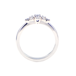 sparkly diamond engagement ring with a modern cluster style