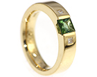 becky's dramatic tourmaline and 18ct yellow gold engagement ring