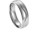 howard's 18ct white gold wedding ring with engraved line