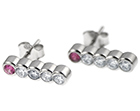 hannah's stunning platinum and pink sapphire earrings