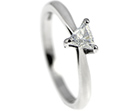corrine's stunning trilliant cut diamond engagement ring