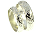 colin and nicky's fairtrade 9ct white gold wedding rings