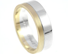 sue's yellow and white gold wedding ring