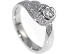 caroline's beautiful twisting diamond engagement ring