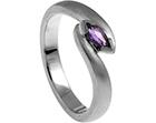 pauline's palladium and sapphire engagement ring