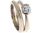 charlottes apex profile 18ct white gold wedding ring