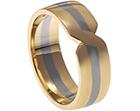 ben's 9ct yellow gold and palladium wedding ring