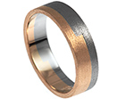 antons palladium and rose gold wedding ring