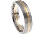 chris's bespoke palladium and 9ct yellow gold wedding ring