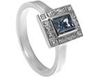 stunning art deco green sapphire and diamond engagement ring