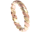alex's 9ct rose and yellow gold celtic style wedding ring