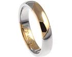 jon's palladium and yellow gold wedding ring