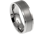 graeme's wedding band with contrast finishes
