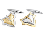 robin's surprise ivy leaf cufflinks