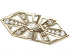 rachel's stunning art deco inspired diamond and 18ct white gold brooch