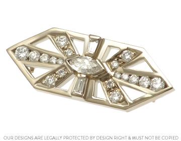 eedc5bdbf65 Rachel s stunning Art Deco inspired diamond and 18ct white gold brooch