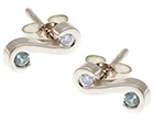 nadia's green sapphire and diamond white gold earrings
