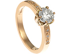 george's surprise 9ct rose gold and diamond engagement ring