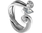 kris' 18ct white gold fitted wedding ring