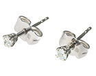 diamond and 9ct white gold earrings
