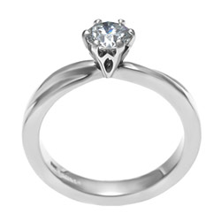mobius twist inspired solitaire 0.49ct hsi1 diamond engagement ring