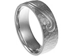 simon's engraved palladium promise ring