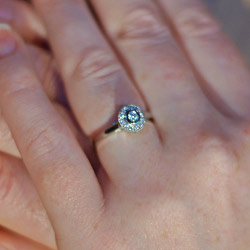 vintage lace inspired diamond cluster engagement ring