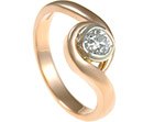 striking rose gold diamond twist engagement ring