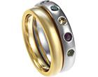 rachel's white gold and coloured gemstone eternity ring